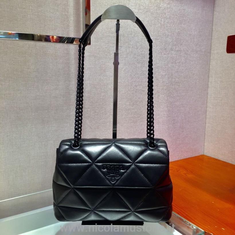 1bdaa2e383 €397 - Prada Saffiano Cuir Petit Sac Double 2775 Noir [SKUBGS1040482 ...